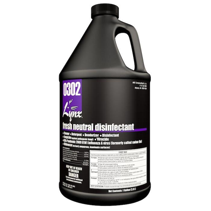 Lynx Green Fresh Neutral Disinfectant | 4 / 1 Gallon Jug